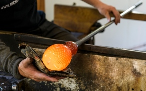 Glassblower at work