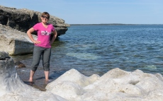 Isabel testing the waters - Gotland Coast