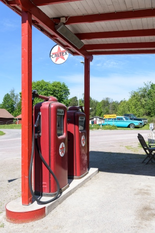 Old gas station around Siljan lake
