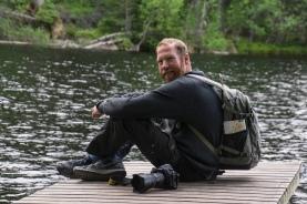 Christian waiting for the light - Helvetinjarvi National Park