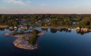 Aerial shot of Karingsund - Aland