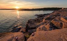 Sunset along the coast - Aland