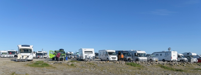 Camper parade at North Cape (71º 10´ 21¨)