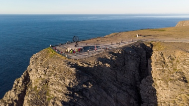 Aerial shot of North Cape (71º 10´ 21¨)