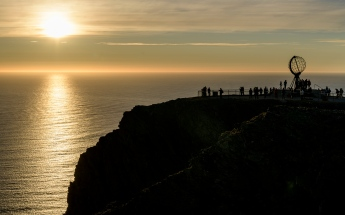 Midnight Sun at the North Cape (71º 10´ 21¨)