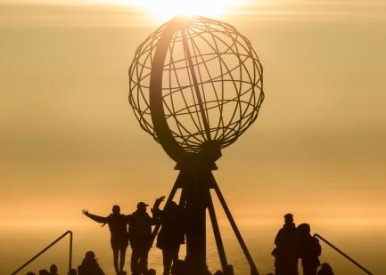 Midnight Sun at the North Cape (71º 10´ 21¨)