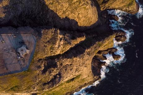 Aerial shot of North Cape (71º 10´ 21¨)
