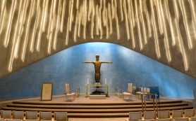Inside Nothern Lights Cathedral - Alta