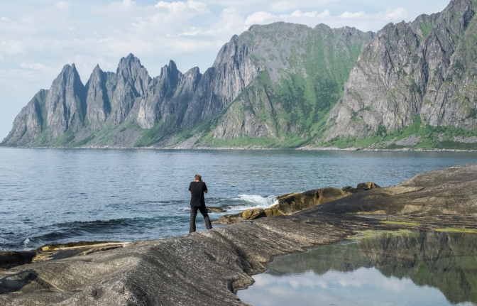 Christian trying to capture the beauty of Senja