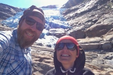 Selfie at the Svartisen Glacier