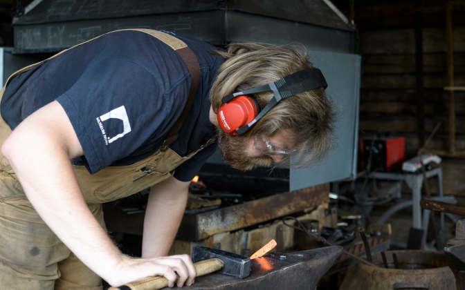 Blacksmith at Lofoten Museum