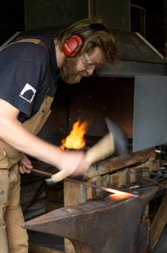 Blacksmith at Lofoten Museum