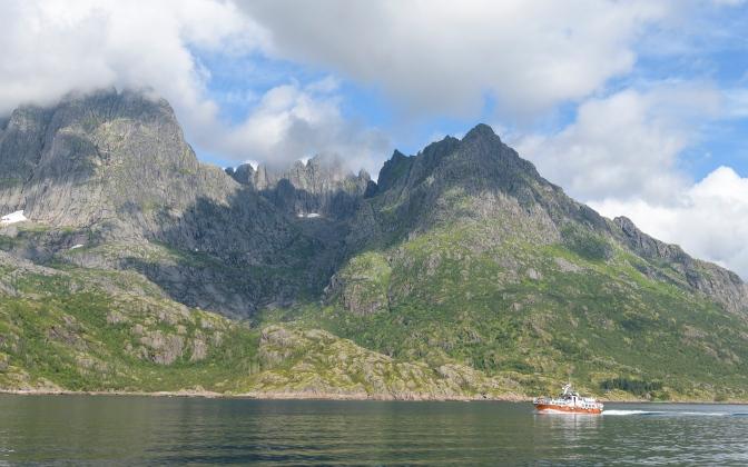 En route to the Trollfjord