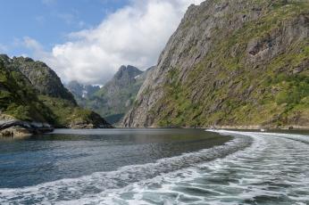 Entering the Trollfjord