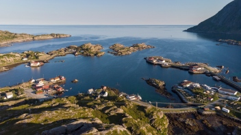 Aerial shot of Sund