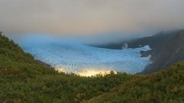 Evening light at Svartisen Glacier