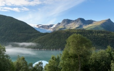 Morning light at the Glacier Lagoon