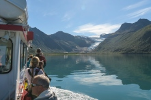 Ferry crossing to Svartisen Glacier