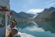 Ferry crossing to Svartisen Glacier