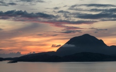Sunset along the Coastal Road