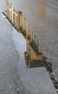 Reflection of Sjogata district in Mosjoen