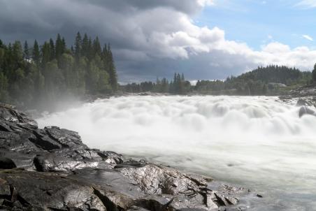Laksforsen Waterfall