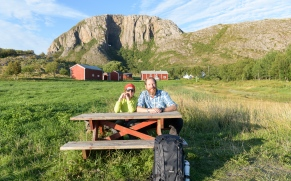 Dinner in the sun at Torghatten