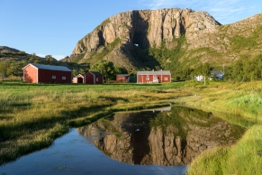 Reflection of Torghatten