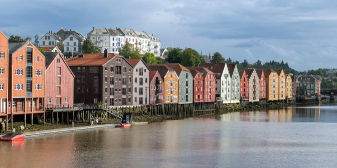 """Canal houses"" of Trondheim"