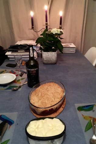 Apple crumble and Port - lekker