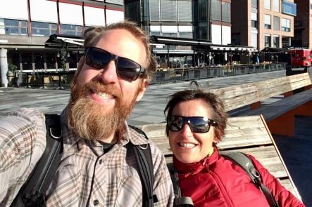 Isabel & Christian enjoying the sun
