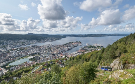 View from Floibanen viewpoint