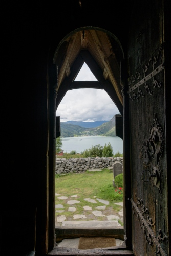 Entrance to Urnes Stave Church