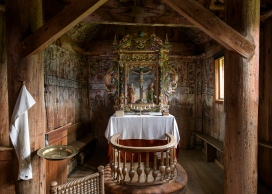 Altar in Urnes Stave Church