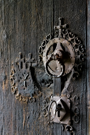 Door lock at Urnes Stave Church