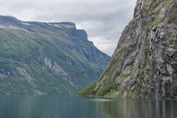 At the ferry along Geiranger Fjord