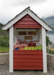 Fruitstand at the Hardanger Fjord