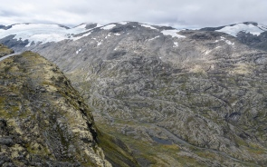 Mountains surrounding Geiranger Fjord