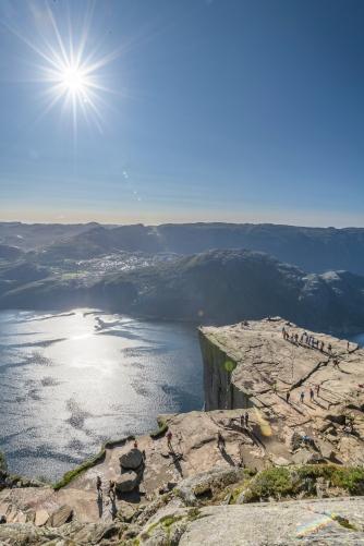 Preikestolen overlooking the Lysefjord