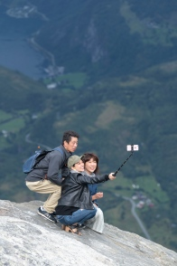 """Selfie"" at the Dalsnibba viewpoint"