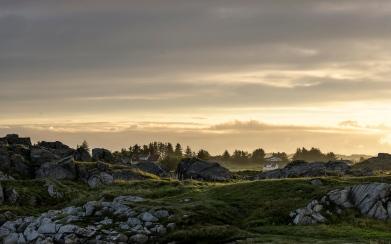 Sunrise at Karmoy beach