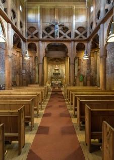 Inside Heddal Stave Church