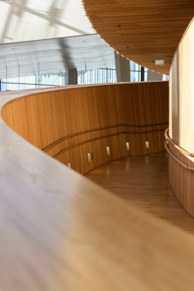 Details of the interior of the Oslo Opera
