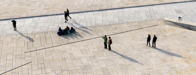Visitors at Oslo Opera