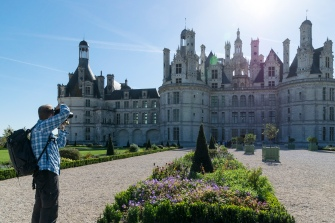 Christian in action at Chambord