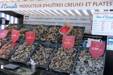 Oyster market at Cancale