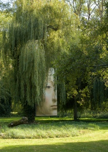 Mysterious girl in the garden