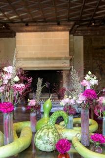 Flower arrangements at Chenonceau