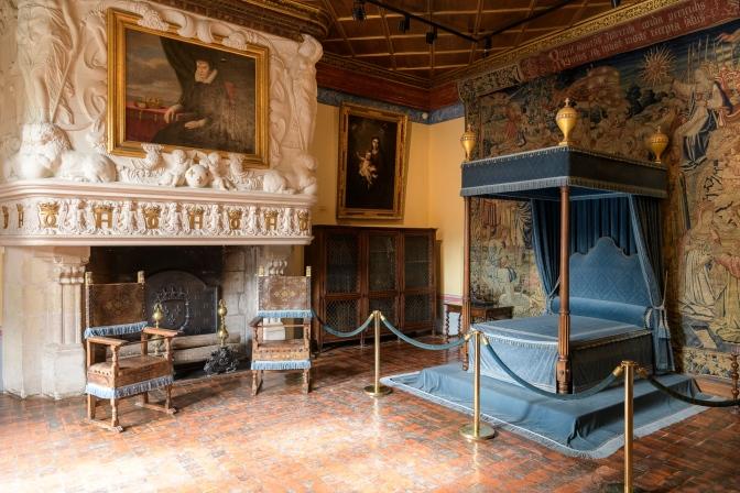 His royal bedroom