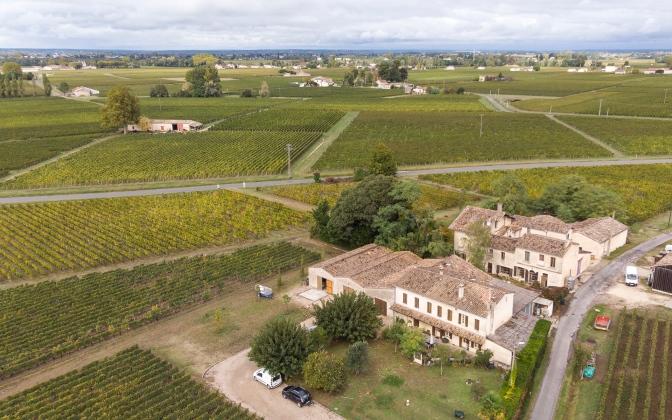 Chateau Arnaud de Jacquemeau (aerial shot)